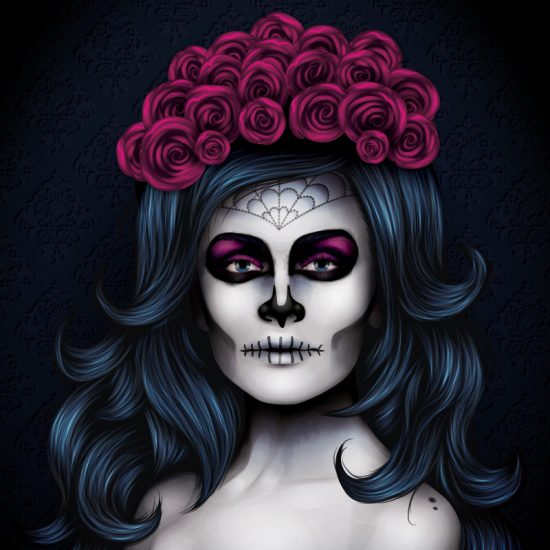The second project shows you how to create a Day of the Dead look.