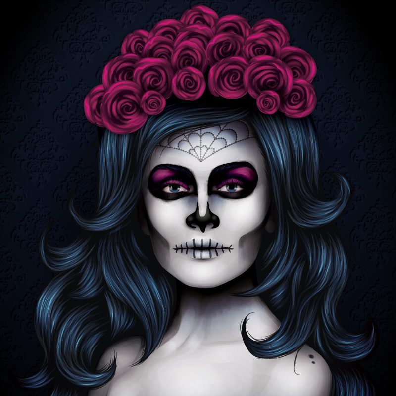 sugar skull hair styles day of dead hair styles day of the dead hairstyles 100 2874